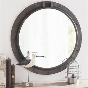 Miroir Metal Noir : miroir en m tal noir h 74 cm baltic maisons du monde ~ Teatrodelosmanantiales.com Idées de Décoration