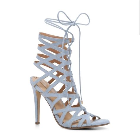 light blue shoes heels 17 off aldo shoes price drop light blue lace up strappy