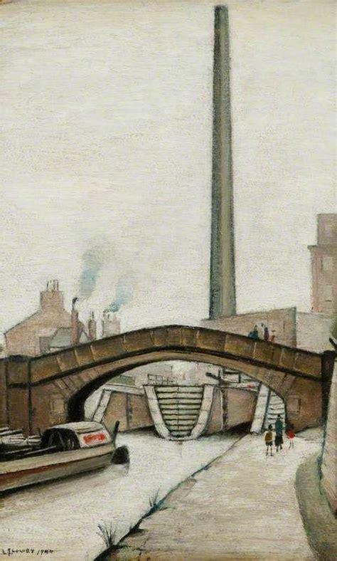 Lowry in naïve art (primitivism) style. Canal Bridge - LS Lowry, 1944   Urban landscape, Landscape ...