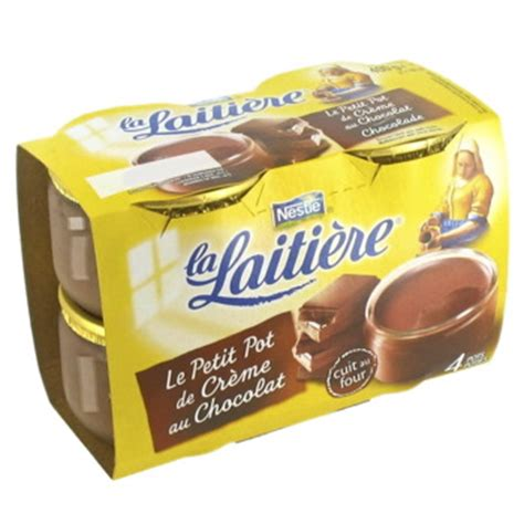 petits pots creme la laitiere chocolat 4x100g tous les produits sp 233 cialit 233 s p 226 tissi 232 res
