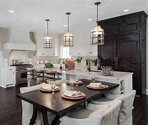 Pendant lighting island bench : White kitchen interior design decor ideas pictures