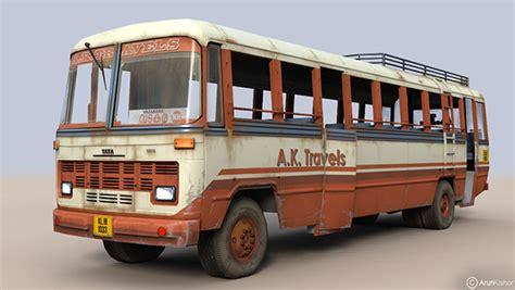 tata  transport bus  model  texture  behance