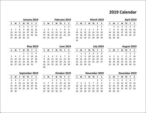 business calendar template holidays