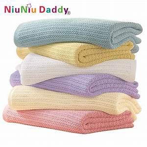High quality Cellular Baby Blanket Cotton blanket 70x90cm ...
