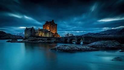 Scotland Castle Donan Eilean Loch Water Night