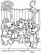 Coloring Pound Pages Puppies Printable Sheets Books 1980s Adult Poundpuppies sketch template