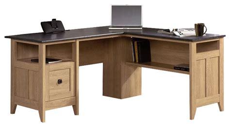 Sauder L Shaped Desk Dover Oak Finish by Sauder August Hill L Desk In Dover Oak Transitional