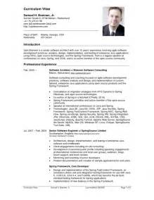 curriculum developer resume sle cv sle 100 more photos