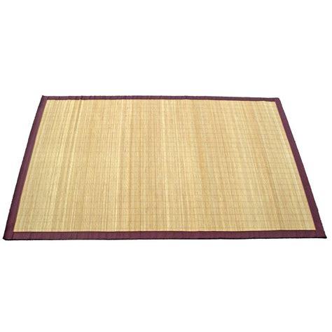 tapis naturel bambou naturel l 140 x l 200 cm leroy merlin