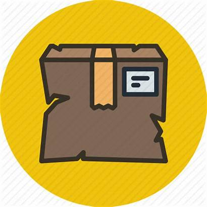 Broken Icon Parcel Package Fail Delivery Box