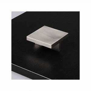Bouton De Meuble : bouton de meuble look inox carr ~ Teatrodelosmanantiales.com Idées de Décoration