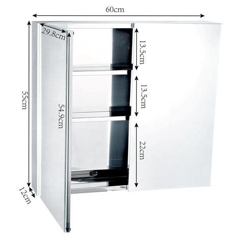 Bathroom Cupboard Mirror by Wall Mounted Bathroom Mirror Glass Storage Stainless Steel