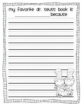 Dr Seuss Writing Paper Kid Essay Samples Dr Seuss Lined Paper