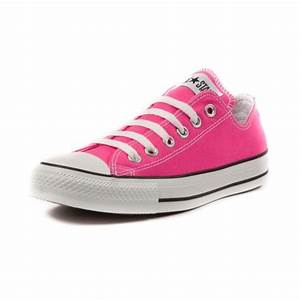 Converse All Star Lo Athletic Shoe Bright Pink I love