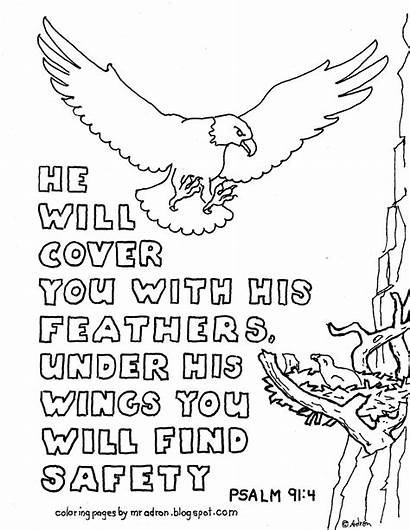 Coloring Printable Psalm Pages 91 Bible Verse