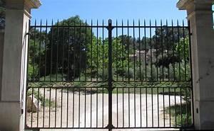 portail jardin fer portillon coulissant pas cher carlier With portail de jardin en fer