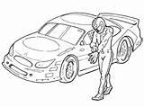 Driver Race Drawing Coloring Nascar Getdrawings sketch template