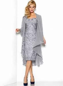 Outfit Zur Eigenen Silberhochzeit : buy 2016 tea length mother of the bride dresses with jacket plus size grey ~ Buech-reservation.com Haus und Dekorationen