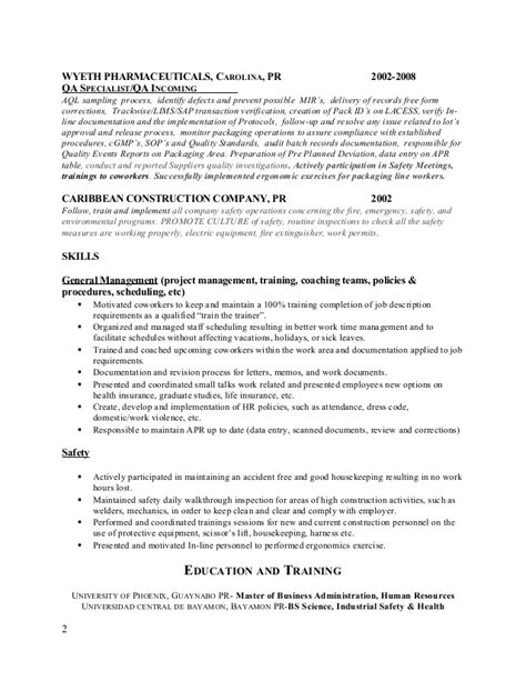 Fully Bilingual In Resume by Resume Ehs1