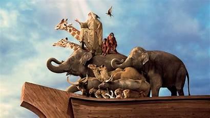 Noah Evan Almighty Ark Animals Noahs Wallpapers