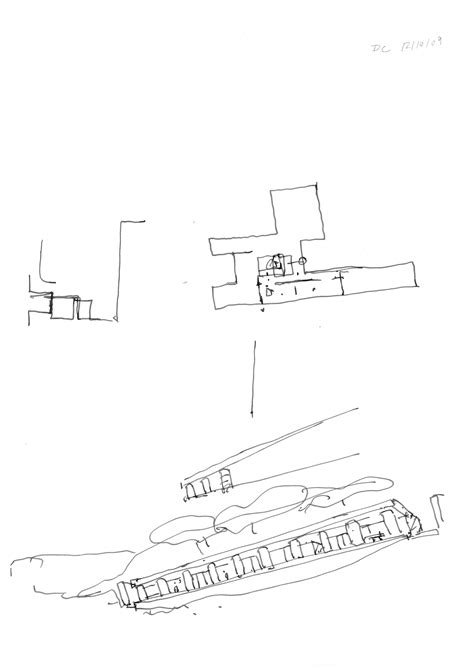david chipperfield sketch  fayland house drawing