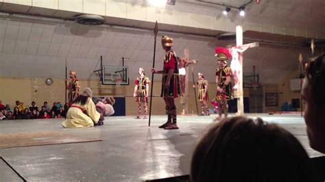 au passion play crucifixion scene youtube