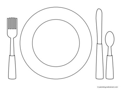 place setting template favorite foods coloring pages hubpages