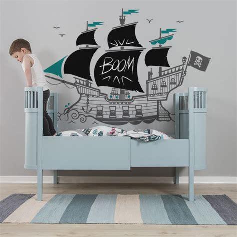 chambre bateau pirate nouveau stickers ardoise bateau pirate pour enfants e