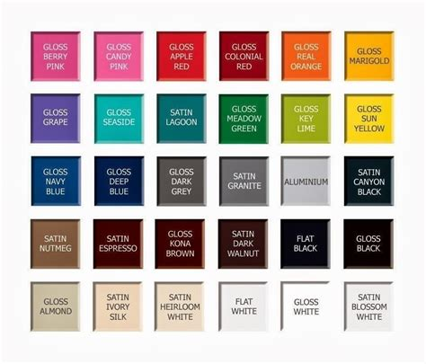 rustoleum spray paint color chart world of printables
