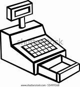 Cash Machine Register Shutterstock Clip Lightbox sketch template