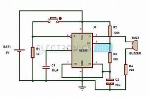 Burglar Alarm  Burglar Alarm Circuit Diagram Using Ic 555