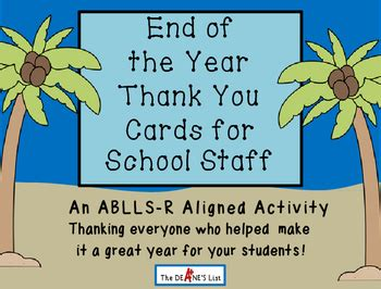 year   cards  school staff