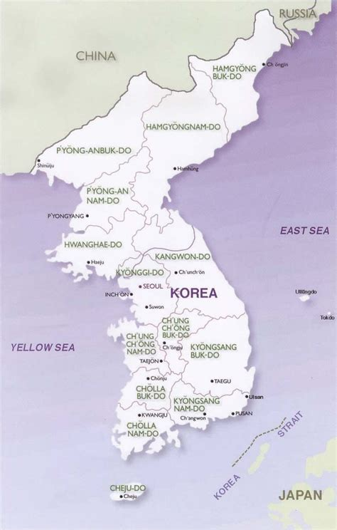 maps republic  korea