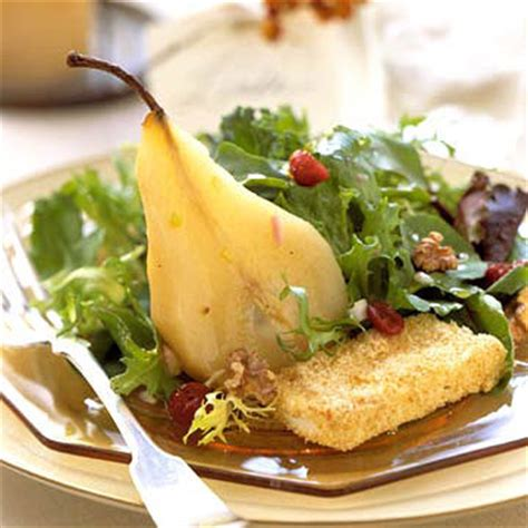 champagne poached pear salad midwest living
