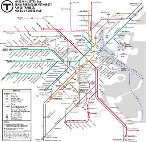 boston t map