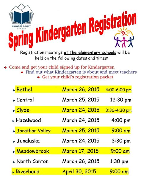 kindergarten registration 469 | Kregistrationposter spring2015 Page 1 791x1024