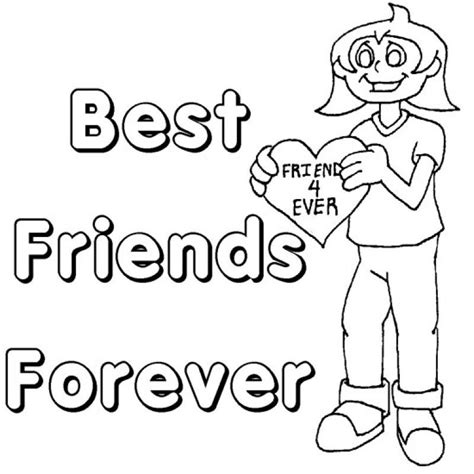 friendship coloring pages best friends forever coloring pages coloring home