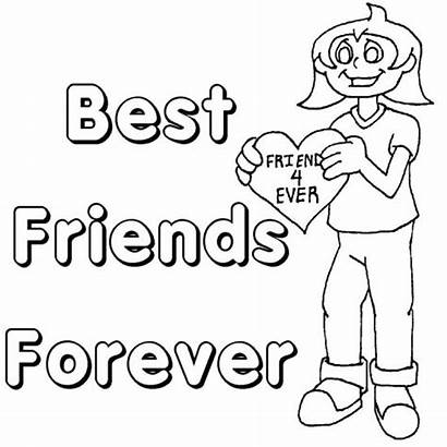 Friendship Coloring Friends Pages Friend Forever Printable
