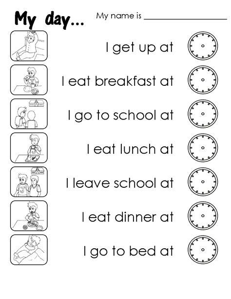 english corner  kids  day daily routines
