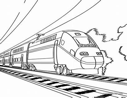 Steam Train Coloring Pages Locomotive Drawing Getdrawings