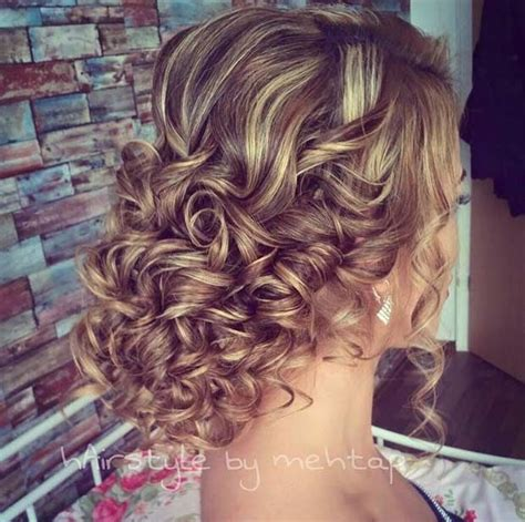 Curled Prom Hairstyles by Curly Prom Updo For Hair Prom Curly Prom Hair