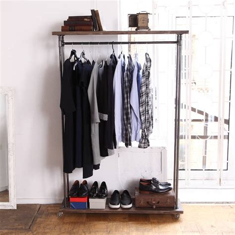 Wardrobe Of Clothes by Industrial Style Clothes Rail By Cosywood