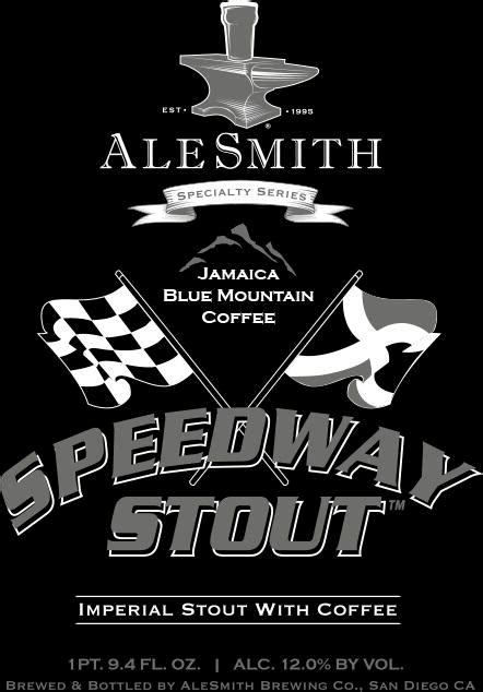 Image result for alesmith blue mountain speedway stout