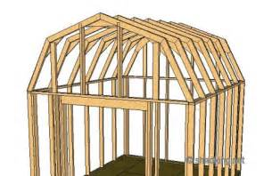 Stunning Images Framing Gambrel Roof by Diy Gambrel Roof Storage Building Plans Plans Free