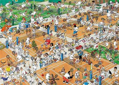 Tennis Court Haasteren Jan Mad Puzzle Magazine