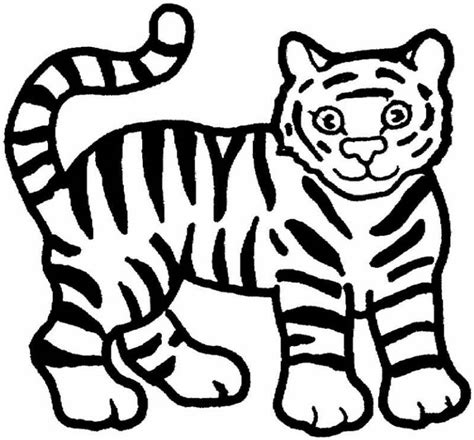 Coloring Tiger by Free Printable Animal Tiger Coloring Pages