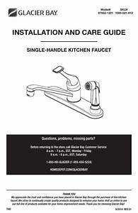 Glacier Bay Kitchen Faucet Repair Manual