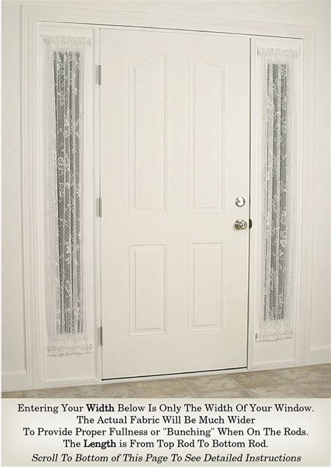 heritage lace sidelight panels