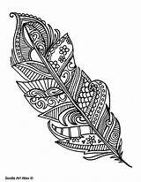 Coloring Peacock Pages Feathers Feather Printable Adult Colouring Doodle Adults Print Colour Designs Tattoo Doodles Simple Zentangle Colorful Pattern Music sketch template