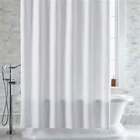white shower curtain Pebble Matelassé White Shower Curtain | Crate and Barrel